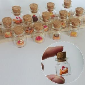 ミニチュアフード ミニチュアボトルセット 食品サンプル ガチャガチャおもちゃ ガラス コルク スイーツ デニッシュ セット|biaro