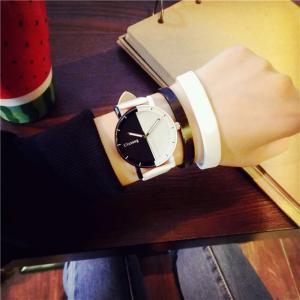 腕時計 メンズ レディース ウォッチ おしゃれ モノトーン ホワイト ブラック|biaro