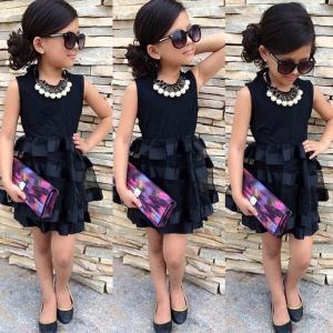 ドレス キッズ 子供用 女の子 80・90・100・110・120・130サイズ 黒色 冠婚葬祭など|biaro