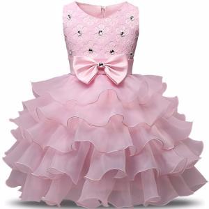 ドレス キッズ 子供用 女の子 100・110・120・130・140サイズ ピンク キラキラ付き|biaro