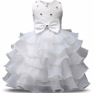 ドレス キッズ 子供用 女の子 100・110・120・130・140サイズ ホワイト キラキラ付き|biaro