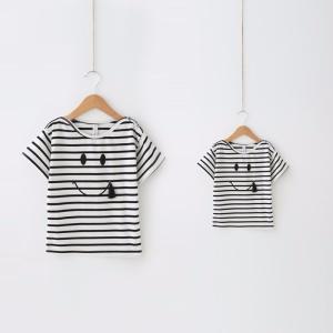リンクコーデ お揃い ペアルック ボーダー キッズ 子供 Tシャツ|biaro