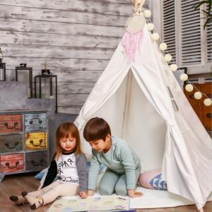 ティピーテント キッズ 子供部屋 室内用 北欧モノトーン ベビー 収納|biaro