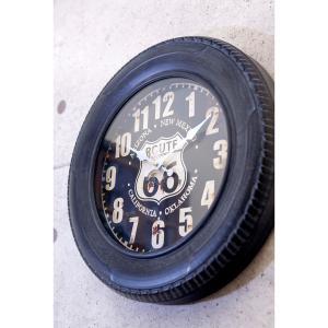 アメリカン インテリア 時計 ブルックリン 男前 アンティーククロック ビンテージ おしゃれ 置時計 タイヤ 男性 誕生日プレゼント|biaro