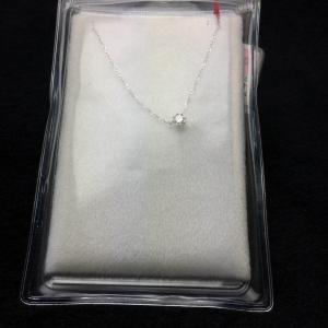 18K WG ハートアンドキューピット   ダイヤモンド  ネックレス bibi-store