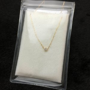 18K ハートアンドキューピット   ダイヤモンド  ネックレス|bibi-store