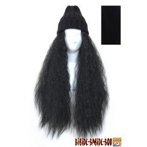 ウィッグ ウイッグ ハーフウィッグ スパイラル つけ毛  / 耐熱 ハーフウィッグ ボンバー 黒髪/条件付き送料無料 ビビデ ビビデバビデブー /932LLP1B|bibidebabideboo