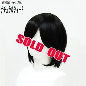 ウィッグ ウイッグ ショート ナチュラルヘア 小顔/耐熱 フルウィッグ ナチュラルショート 黒髪 /条件付き送料無料 ヘアネット付き ビビデバビデブー /N623P2|bibidebabideboo