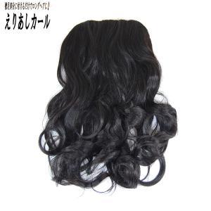 ウィッグ ウイッグ ポイントウィッグ つけ毛 エクステンション 巻き髪 /耐熱 えりあし カール 黒髪 /条件付き送料無料 ビビデ ビビデバビデブー /PSP3|bibidebabideboo