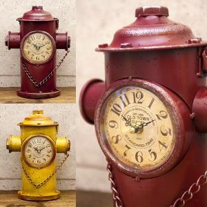 置時計 Retro days Clock シャビーな加工 レトロデイズクロック Hydrant 消火栓 15TMJ372-1 送料無料|bic-shop