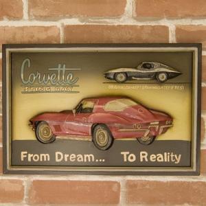 送料無料 看板 アンティークボード プレート Corvette 200MS-586|bic-shop