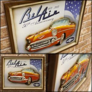 送料無料 アンティーク調 ボード Chevrolet 50th Anniversary 看板 プレート  209MS2145|bic-shop