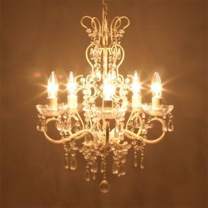 シャンデリア 照明 LED電球対応 天井照明 アンティーク調 豪華で 5灯 Alice   アリス   クリーム 67B308884K-cream 送料無料|bic-shop