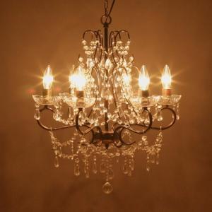 シャンデリア 照明  LED電球対応 アンティーク調 豪華で  6灯   Emma   エマ    ダークゴールド 67B308888K-darkgold 送料無料|bic-shop