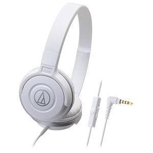 オーディオテクニカ audio-technica マイク&コントローラー搭載 ダイナミック 密閉型ヘッドホン ホワイト ATH-S100IS-WH|bic-shop