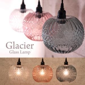 ペンダントライト シーリング 照明 LED電球対応  グレイシャーガラスランプ ラウンド BHS0014-s 送料無料|bic-shop