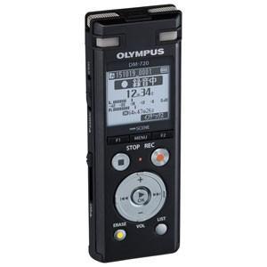 オリンパス OLYMPUS リニアPCM対応 ICレコーダー ブラック 4GBメモリ内蔵+外部マイクロSDスロット搭載 Voice-Trek DM-720-BLK|bic-shop