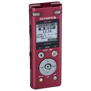 オリンパス OLYMPUS リニアPCM対応 ICレコーダー レッド 4GBメモリ内蔵+外部マイクロSDスロット搭載 Voice-Trek DM-720-RED|bic-shop