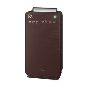 日立 HITACHI 加湿空気清浄機 空清48畳まで/加湿30畳まで ブラウン 自動おそうじ CLEAIR(クリエア) EP-NVG110-T|bic-shop