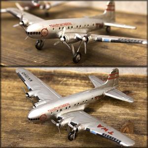送料無料 レトロ調 ヴィンテージ Aircraft TWA-4 F0139-2|bic-shop