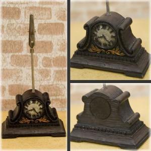 送料無料 とっても可愛らしい ミニチュア オールディーズ カードスタンド 時計 GA070285|bic-shop