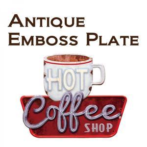 看板 壁面装飾  レリーフ アート ウォールデコレーション アンティークエンボスプレート ダイカット COFFEE SHOP アメリカン雑貨 送料無料|bic-shop