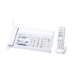 パナソニック Panasonic デジタル コードレス 普通紙 FAX 子機1台付き ホワイト  おたっくす KX-PZ210DL-W