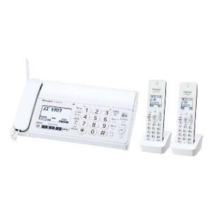 パナソニック Panasonic デジタル コードレス 普通紙 FAX 子機2台付き ホワイト  おたっくす KX-PZ210DW-W|bic-shop