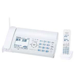 パナソニック Panasonic デジタルコードレス普通紙FAX 子機1台付き ホワイト おたっくす KX-PZ300DL-W|bic-shop