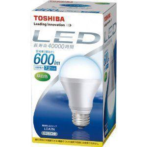 東芝   TOSHIBA   E-CORE(イー・コア) LED電球(フィンレス構造・E26口金・一般電球形7.2W・白熱電球40W相当・600ルーメン・昼白色)   LDA7N 送料無料|bic-shop