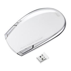 サンワサプライ ワイヤレスタッチセンサーマウス Mac用・ホワイト MA-TOUCH2MAC|bic-shop
