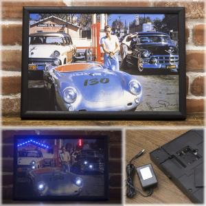 看板 店舗装飾 電光掲示板 レトロ雑貨 ガレージ看板 LED PictureFrame LEDピクチャーフレーム MLP-1522|bic-shop