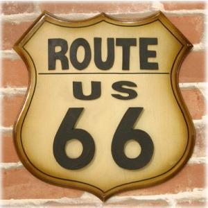 送料無料 お洒落なダイカットルート66プレート アンティークボード Route66 ホワイト NF934|bic-shop