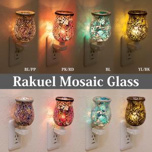 壁掛け灯 ブラケットライト 照明 ウォールランプ 壁掛け照明 ラケルモザイクガラス コンセントランプ raquel-FTLAMP|bic-shop