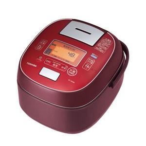 東芝 TOSHIBA 真空圧力 IHジャー 炊飯器 5.5合炊き ディープレッド 圧力+真空 合わせ炊き RC-10VSM-RS|bic-shop