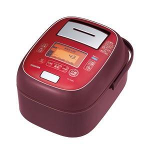 東芝 TOSHIBA 真空圧力 IHジャー 炊飯器 5.5合炊き ディープレッド 圧力+真空 合わせ炊き RC-10VXM-RS|bic-shop