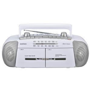 ラジカセ ラジオ オーム電機 OHM 07-8388 AM/FM ステレオダブルラジオカセットレコーダー RCS-371Z 送料無料  bic-shop