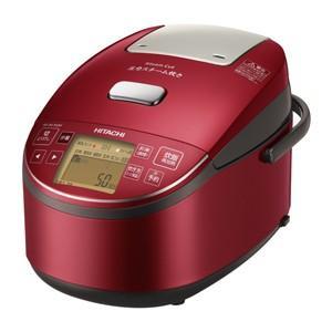 日立 HITACHI 圧力スチーム IHジャー 炊飯器 5.5合炊き メタリックレッド 圧力スチーム炊き ふっくら御膳 RZ-BV100M-R|bic-shop