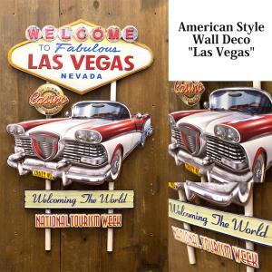 送料無料 エンボス加工 アメリカン スタイル ウォールデコ Las Vegas 看板 アンティークボード TT51247|bic-shop