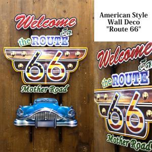 送料無料 エンボス加工 アメリカン スタイル ウォールデコ Route66 看板 アンティークボード TT51254|bic-shop