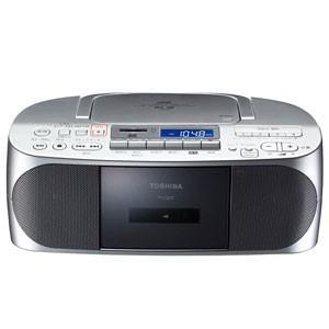 東芝 TOSHIBA CDラジオ カセット メモリー レコーダー シルバー TY-CDX7-S