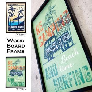 送料無料 アンティーク ウッドボード フレーム 40x60 看板 Wood40x60-2|bic-shop