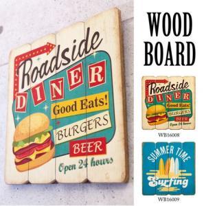 送料無料 アンティーク スクエアウォール ウッドボード 看板 WoodBoard-2|bic-shop