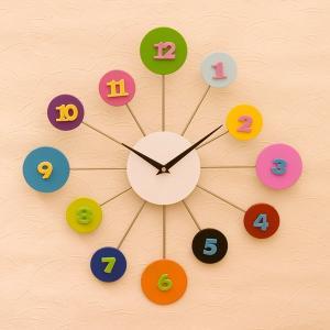 時計 掛け時計 壁掛時計 クロック デザインウォールクロック Popポップ YGZ1084 送料無料|bic-shop