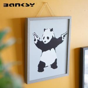 アート バンクシー Banksy Panda with Guns IBA-61754 絵画 アートフ...