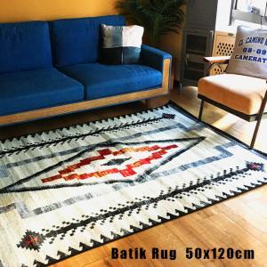 ラグモリヨシMORIYOSHIバティックラグ 50x120 Batik Rug 449-Q01B 386-Q01N 170-Q03Zマット 絨毯 じゅうたん カーペット|bicasa