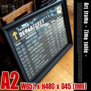 Art Frame Time table(アートフレーム タイムテーブル) A2 size 黒フレー...