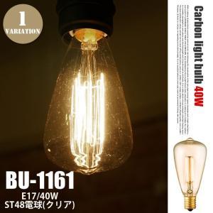 電球 白熱電球 ST48 カーボン電球  E17 40W クリア アートワークスタジオ ARTWOR...