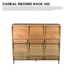 アデペシュ a depeche カデル レコードラック 3×2 cadeal record rack 3×2 CDL-RDR-3×2 収納家具 オーク材 日本製 アイアン ディスプレイラック bicasa