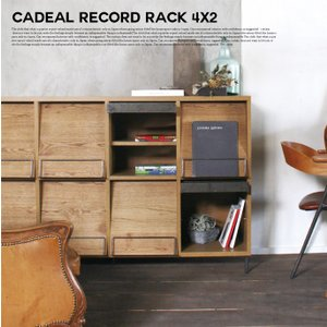 アデペシュ a depeche カデル レコードラック 4×2 cadeal record rack 4×2 CDL-RDR-4×2 収納家具 オーク材 日本製 アイアン ディスプレイラック|bicasa